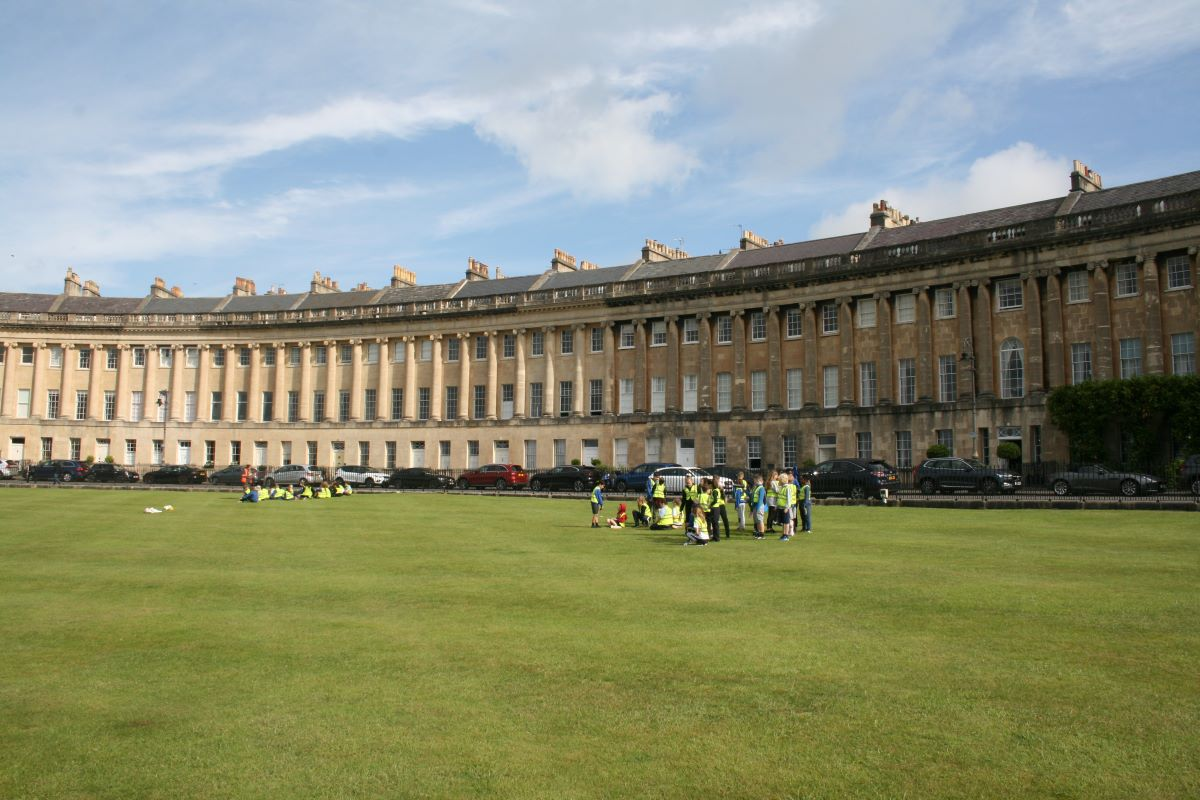 5th July Year 5 & 6 Sports Morning on the Royal Crescent Lawn