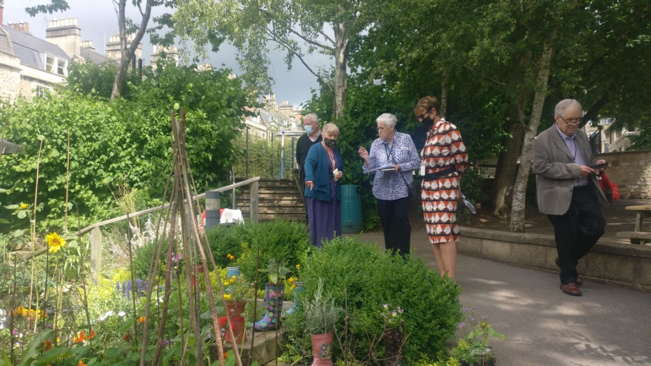 7th July 21 Bath in Bloom Judges Visit St Andrew's